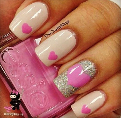 Easy-Valentine's-Day-Nail-Art-Designs-2020-Vday-Nails-1