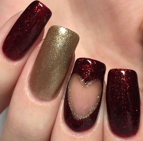 Easy-Valentine's-Day-Nail-Art-Designs-2020-Vday-Nails-14