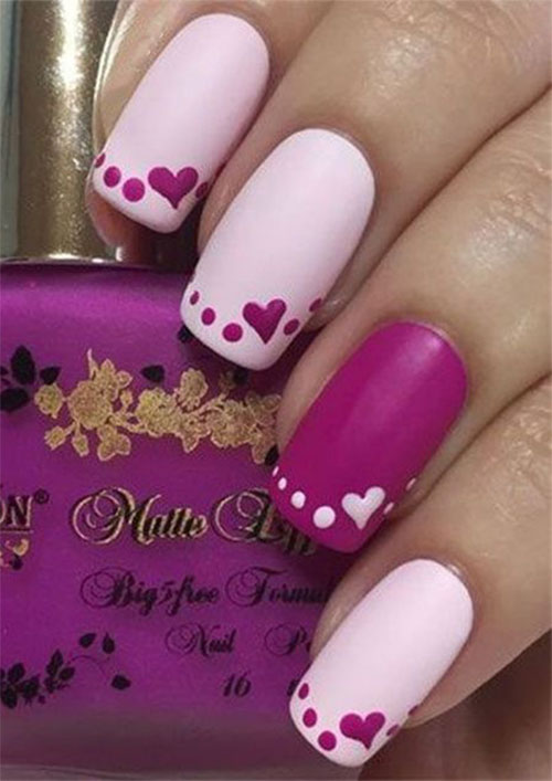 Easy-Valentine's-Day-Nail-Art-Designs-2020-Vday-Nails-3