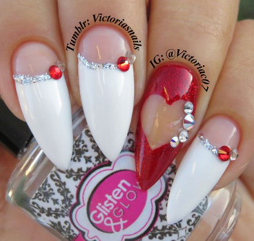 Easy-Valentine's-Day-Nail-Art-Designs-2020-Vday-Nails-4