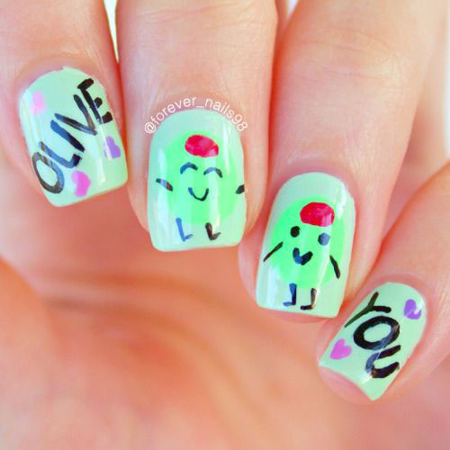 Easy-Valentine's-Day-Nail-Art-Designs-2020-Vday-Nails-6