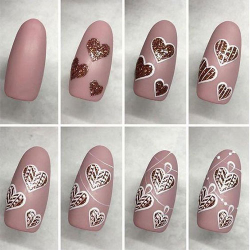 Step By Step Valentine S Day Nail Art Tutorials For Learners 2020 Fabulous Nail Art Designs