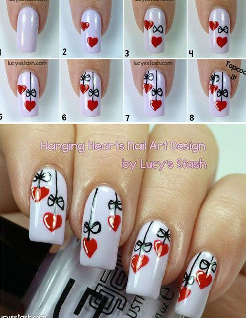 Step-By-Step-Valentine's-Day-Nail-Art-Tutorials-For-Learners-2020-16