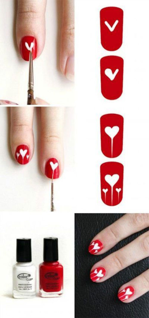 Step-By-Step-Valentine's-Day-Nail-Art-Tutorials-For-Learners-2020-21