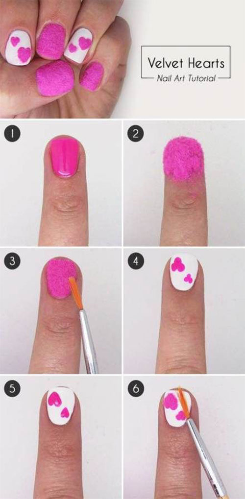 Step-By-Step-Valentine's-Day-Nail-Art-Tutorials-For-Learners-2020-6