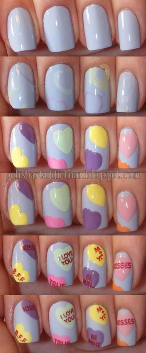 Step-By-Step-Valentine's-Day-Nail-Art-Tutorials-For-Learners-2020-8