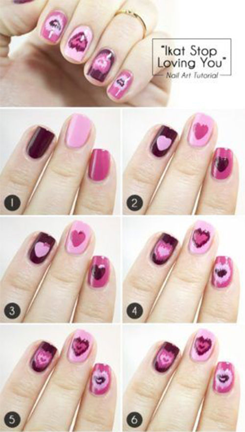 Step-By-Step-Valentine's-Day-Nail-Art-Tutorials-For-Learners-2020-9