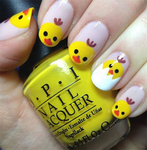 15-Easter-Chick-Nail-Art-Designs-Ideas-2020-8