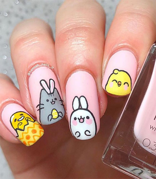 15-Easter-Chick-Nail-Art-Designs-Ideas-2020-9