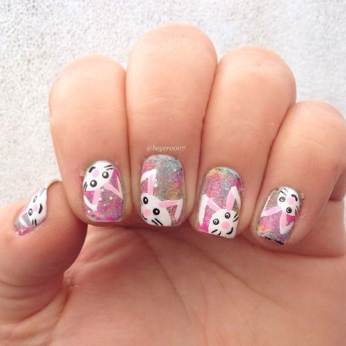 Best-Easter-Bunny-Nails-Art-Ideas-2020-19