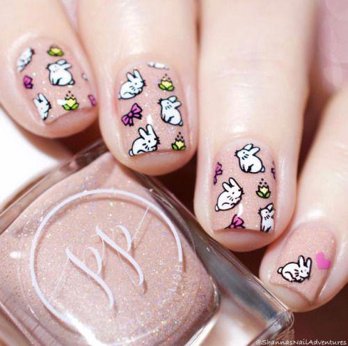 Best-Easter-Bunny-Nails-Art-Ideas-2020-9