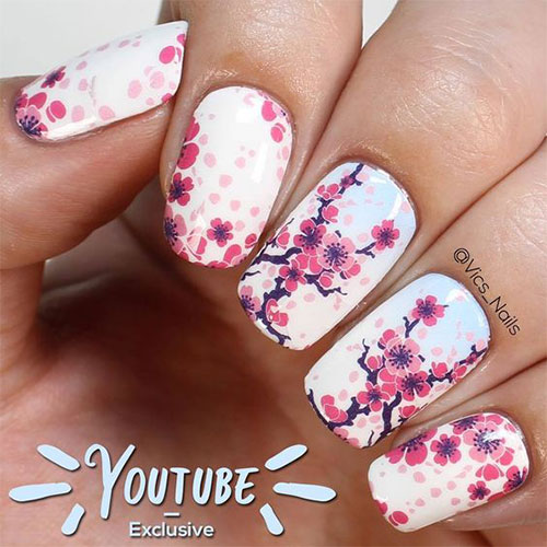 Cherry-Blossom-Spring-Nails-Art-Designs-Ideas-2020-13