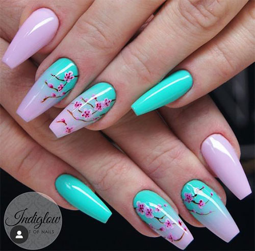 Cherry-Blossom-Spring-Nails-Art-Designs-Ideas-2020-14