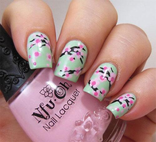 Cherry-Blossom-Spring-Nails-Art-Designs-Ideas-2020-15