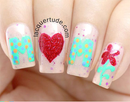 Best-Mother's-Day-Nails-Art Designs & Ideas 2020-1