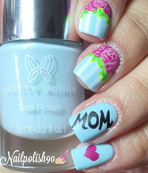 Best-Mother's-Day-Nails-Art Designs & Ideas 2020-10