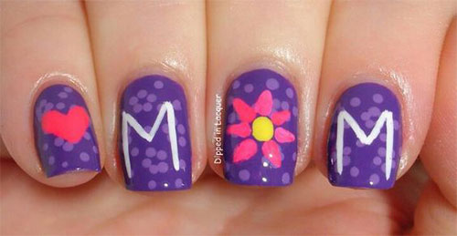 Best-Mother's-Day-Nails-Art Designs & Ideas 2020-11