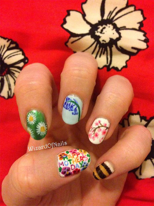 Best-Mother's-Day-Nails-Art Designs & Ideas 2020-13