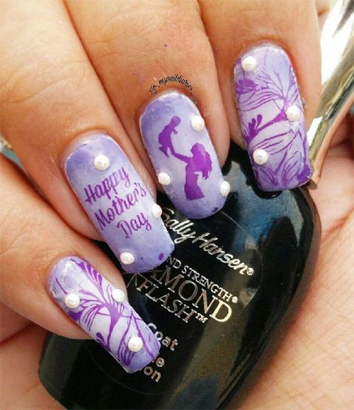 Best-Mother's-Day-Nails-Art Designs & Ideas 2020-14