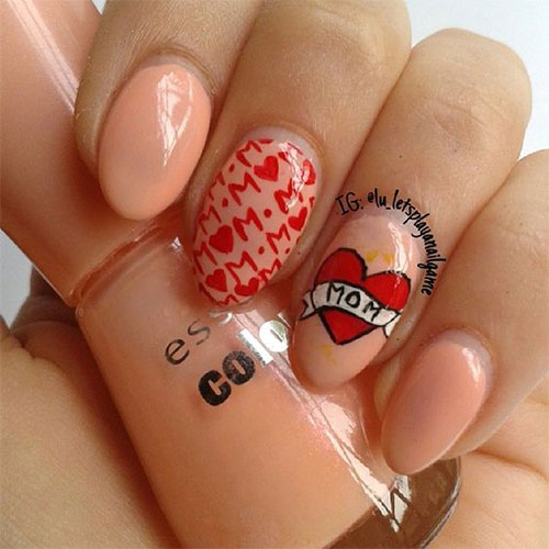 Best-Mother's-Day-Nails-Art Designs & Ideas 2020-15