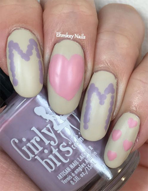 Best-Mother's-Day-Nails-Art Designs & Ideas 2020-16