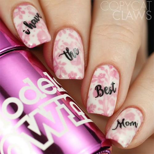 Best-Mother's-Day-Nails-Art Designs & Ideas 2020-17