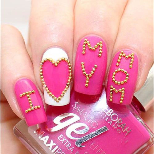 Best-Mother's-Day-Nails-Art Designs & Ideas 2020-2