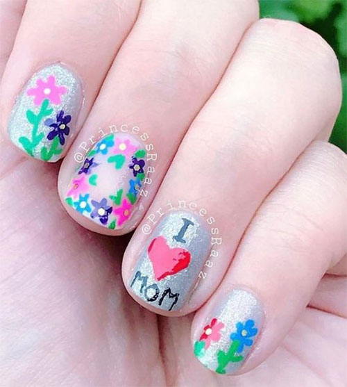 Best-Mother's-Day-Nails-Art Designs & Ideas 2020-3