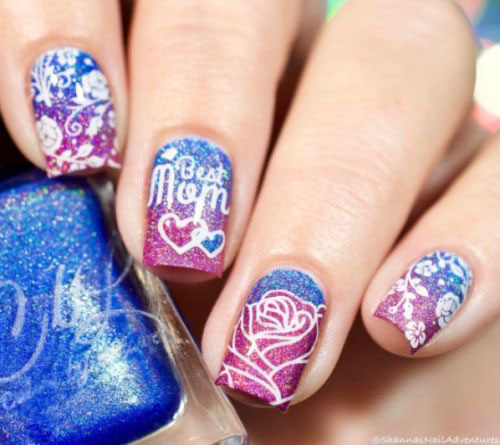 Best-Mother's-Day-Nails-Art Designs & Ideas 2020-4