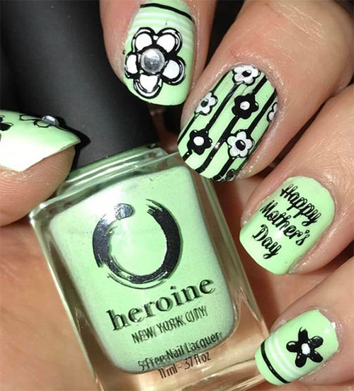 Best-Mother's-Day-Nails-Art Designs & Ideas 2020-5