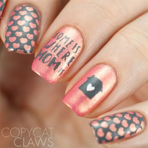 Best-Mother's-Day-Nails-Art Designs & Ideas 2020-6
