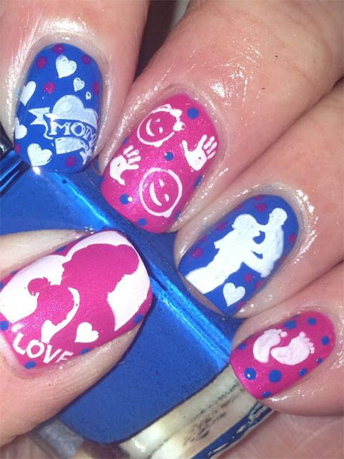 Best-Mother's-Day-Nails-Art Designs & Ideas 2020-8