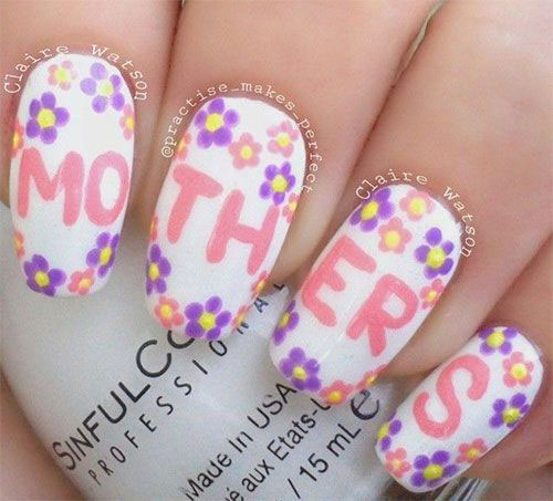 Best-Mother's-Day-Nails-Art Designs & Ideas 2020-9