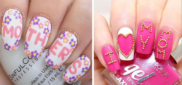 Best-Mother's-Day-Nails-Art Designs & Ideas 2020-F