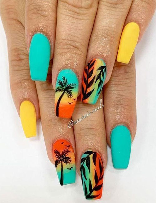 Neon-Summer-Nails-Art-Designs-2020-3