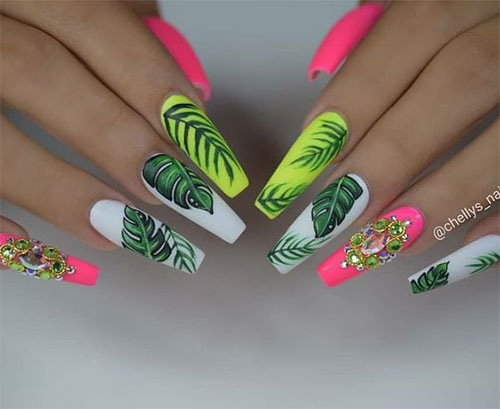 Neon-Summer-Nails-Art-Designs-2020-6