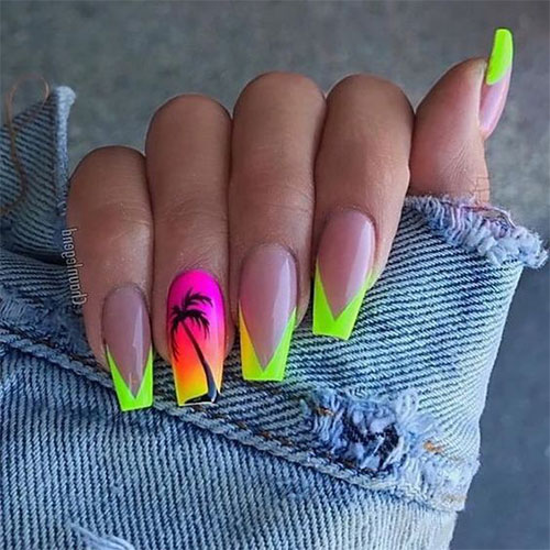 Neon-Summer-Nails-Art-Designs-2020-7