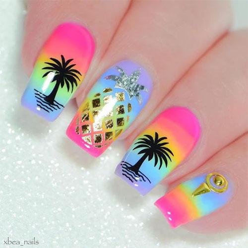 Neon-Summer-Nails-Art-Designs-2020-8