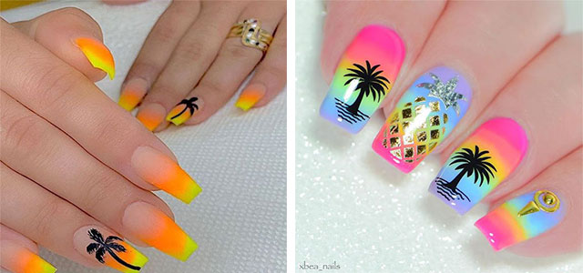 Neon-Summer-Nails-Art-Designs-2020-F