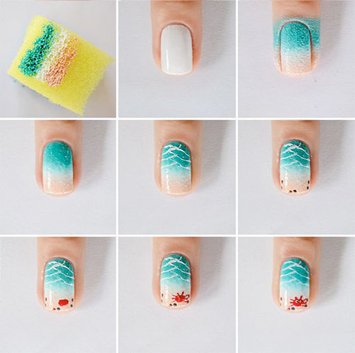 Summer-Nail-Art-Tutorials-For-Beginners-2020-7