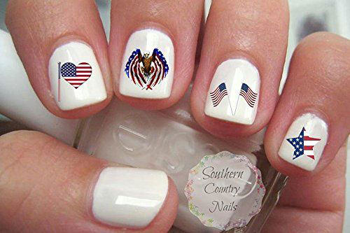 4th-of-July-Nails-Art- Stickers-Decals-2020-1