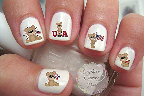 4th-of-July-Nails-Art- Stickers-Decals-2020-2