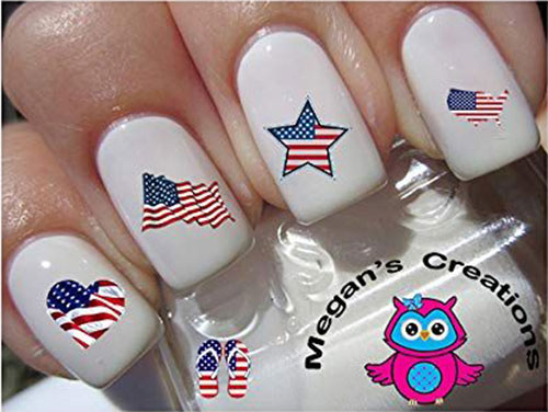 4th-of-July-Nails-Art- Stickers-Decals-2020-3
