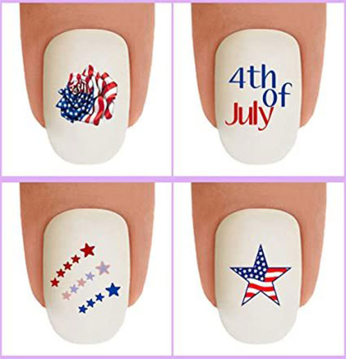 4th-of-July-Nails-Art- Stickers-Decals-2020-4