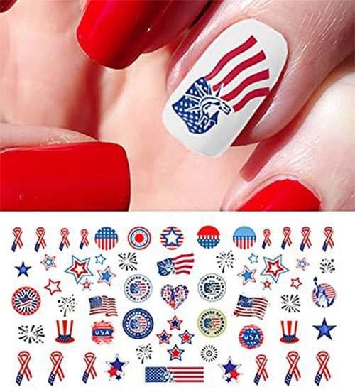 4th-of-July-Nails-Art- Stickers-Decals-2020-5