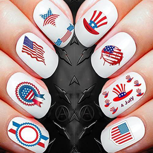 4th-of-July-Nails-Art- Stickers-Decals-2020-8