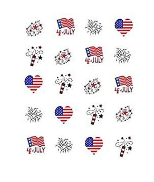 4th-of-July-Nails-Art- Stickers-Decals-2020-9