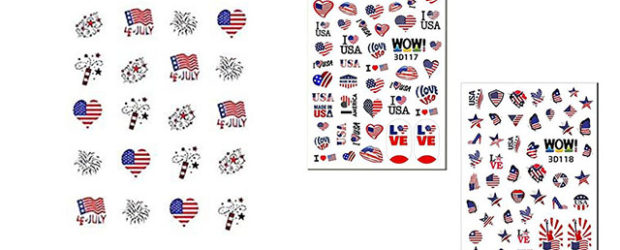 4th-of-July-Nails-Art- Stickers-Decals-2020-F
