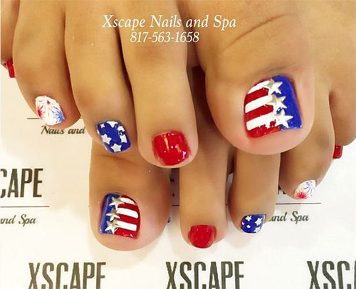 4th-of-July-Toe-Nails-Art-Designs-2020-3
