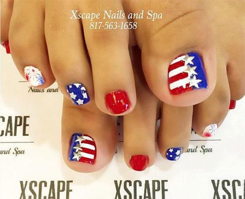 4th-of-July-Toe-Nails-Art-Designs-2020-3